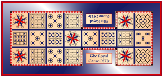 Game of Ur With Edging & Frame