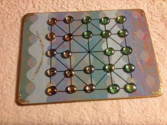 alquerque board game homemade