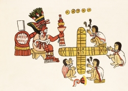 Desc: Playing the game patolli from Mexican codex Magliabechiano ¥ Credit: [ The Art Archive ] ¥ Ref: AA334216