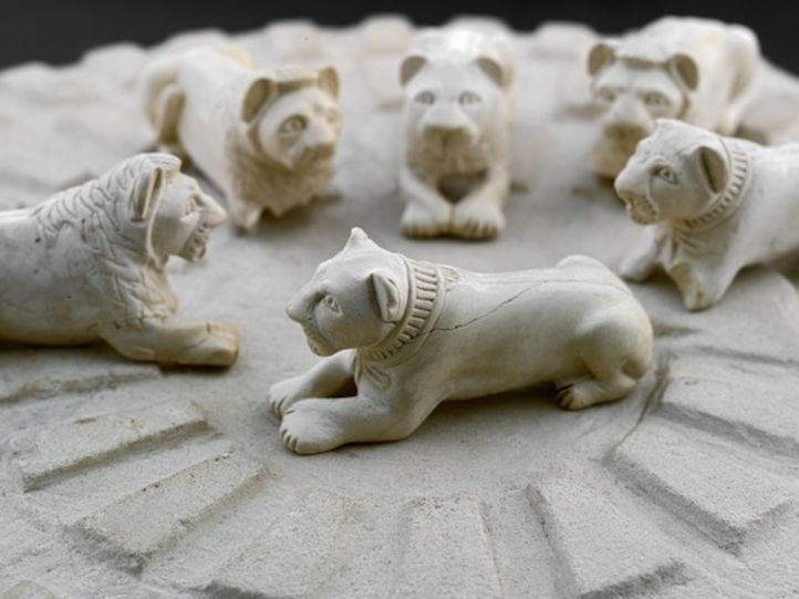 Six-Ivory-Mehen-Lion-Playing-Pieces.-1st-Dynasty-ca.-3100-2890-BCE.-Egyptian-Museum-Cairo.-JE-44918-A-F-Ground-Floor-Hall-43
